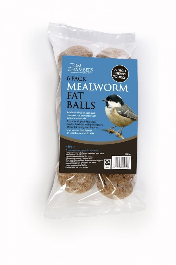 Fat Balls - 6 pack - Mealworm - No Nets