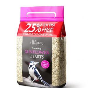 Scrummy Sunflower Hearts - 25% FOC - 2.5kg