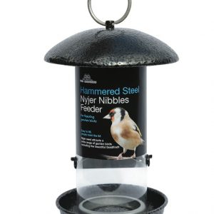 Hammered Steel Nyjer Seed Feeder
