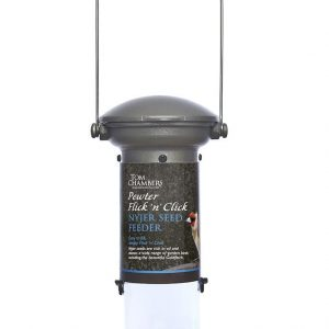 Pewter Flick 'n' Click Nyjer Feeder