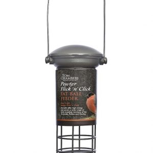 Pewter Flick 'n' Click Fat Ball Feeder